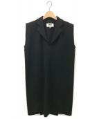MM6 Maison Margiela(エムエムシックス メゾン マルジェラ)の古着「ノースリーブワンピース」|ブラック