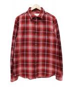 MOUNTAIN RESEARCH(マウンテンリサーチ)の古着「チェックネルシャツ」|レッド