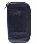 IL BISONTE(イルビゾンテ)の古着「ラウンドファスナー長財布」 ブラック