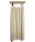 GUCCI(グッチ)の古着「プリーツニットスカート」|アイボリー