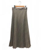 MM6(エムエムシックス)の古着「プリーツスカート」|ブラウン