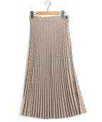 MM6 Maison Margiela(エムエムシックス メゾンマルジェラ)の古着「プリーツスカート」|ブラウン