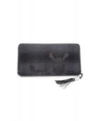 Roen(ロエン)の古着「ラウンドファスナー財布」 ブラック