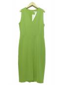 MaxMara(マックスマーラ)の古着「ノースリーブワンピース」|黄緑