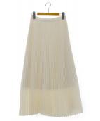 Cen.(セン)の古着「ロングプリーツスカート」|オフホワイト