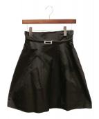 FOXEY(フォクシー)の古着「ベルスカート」|ブラック