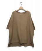 CALUX(キャラクス)の古着「オーバーサイズTシャツ」|ベージュ