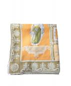 ETRO(エトロ)の古着「シルクスカーフ」|オレンジ×アイボリー