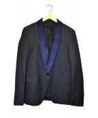 DIESEL BLACK GOLD(ディーゼルブラックゴールド)の古着「ジャカードスペンサージャケット」|ブラック