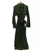 MAISON DE REEFUR(メゾンドリーファー)の古着「ミリタリーロングシャツドレス」|オリーブ