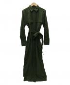 MAISON DE REEFUR(メゾン ド リーファー)の古着「ミリタリーロングシャツドレス」|オリーブ