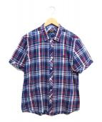 BLACK LABEL CRESTBRIDGE(ブラックレーベルクレストブリッジ)の古着「コットンリネン半袖シャツ」 ブルー