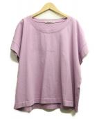 ACNE STUDIOS(アクネステュディオズ)の古着「Tohnek logo-print cotton T-shi」|ラベンダー