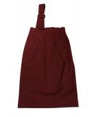 Luftrobe(ルフトローブ)の古着「ワンショルダータイトスカート」|ボルドー