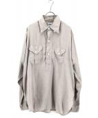 POST OALLS(ポストオーバーオールズ)の古着「プルオーバーシャツ」 ベージュ