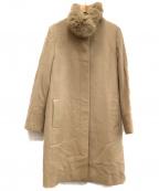 22 OCTOBRE(22オクトーブル)の古着「カシミヤ混ウールコート」|ベージュ