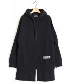 AALTO(アールト)の古着「フーデッドスウェットシャツ」|ブラック