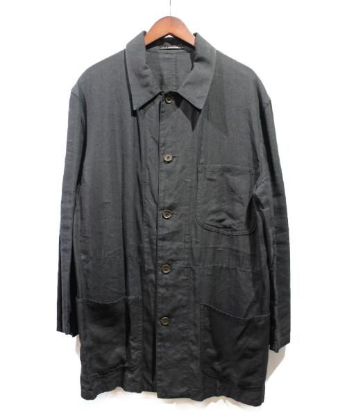Y's for men(ワイズ)Y's for men (ワイズ) リネンジャケット ブラック サイズ:2の古着・服飾アイテム