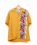 Hysteric Glamour(ヒステリックグラマ)の古着「ファイヤードクロガールアロハシャツ」|イエロー