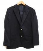 NEWYORKER(ニューヨーカー)の古着「銀ボタン2Bジャケット」 ネイビー
