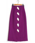 IRENE(アイレネ)の古着「キーラハイウエストスカート」|パープル