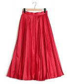 Tsuru by Mariko Oikawa(ツルバイマリコオイカワ)の古着「プリーツスカート」|レッド