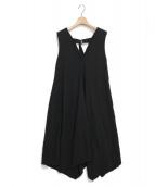 LE CIEL BLEU(ルシェルブルー)の古着「ラウンドフレアドレス」|ブラック