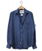 Frank&Eileen(フランクアンドアイリーン)の古着「チェックスキッパーシャツ」|ネイビー