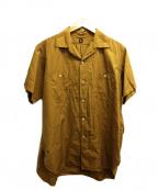 KAPTAIN SUNSHINE(キャプテンサンシャイン)の古着「Finx Cotton-Silkワークシャツ」|カーキ