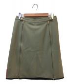 PRADA SPORTS(プラダスポーツ)の古着「ジップスカート」|カーキ