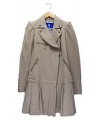 BURBERRY BLUE LABEL(バーバリーブルーレーベル)の古着「プリーツライダースコート」|ベージュ