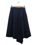 Demi-Luxe BEAMS(デミルクスビームス)の古着「ラッフルフレアースカート」|ネイビー