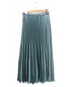 IENA(イエナ)の古着「アコーディオンプリーツスカート」|ミント