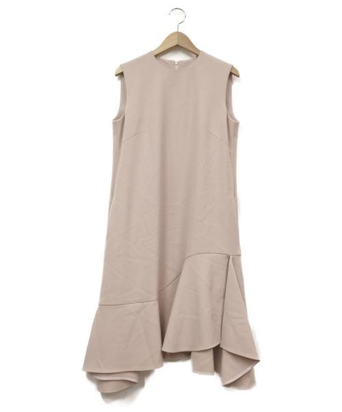 Viaggio Blu(ビアッジョブルー)Viaggio Blu (ビアッジョブルー) イレギュラーヘムフレアワンピース ピンク サイズ:1 LUSSO(17年新設モードライン)の古着・服飾アイテム