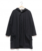 whowhat()の古着「HOODED SHIRT」|ブラック