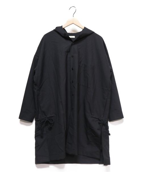 whowhat(フーワット)whowhat (フーワット) HOODED SHIRT ブラック サイズ:S 参考定価48.000円+税の古着・服飾アイテム