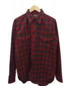 PENDLETON×WAREHOUSE(ペンドルトン×ウエアハウス)の古着「ウールチェックシャツ」|レッド×ブラック