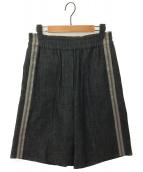 BRUNELLO CUCINELLI(ブルネロ クチネリ)の古着「サイドラインショートパンツ」|ブラック