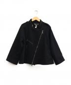 PROENZA SCHOULER(プロエンザ スクーラー)の古着「カシミア混ウールライダースジャケット」|ブラック