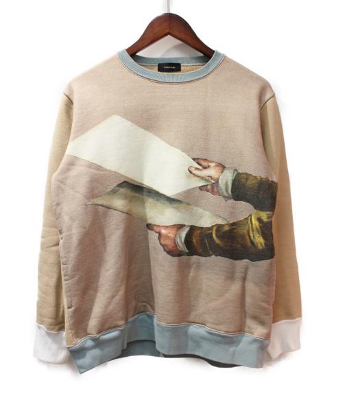 UNDERCOVER(アンダーカバー)UNDERCOVER (アンダーカバー) ミヒャエルボレマンスプリントスウェット ベージュ サイズ:2の古着・服飾アイテム
