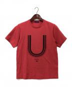 UNDERCOVER(アンダーカバー)の古着「U GIZ T-SHIRT」|レッド