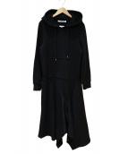 HERENCIA(ヘレンチア)の古着「イレギュラーヘムワンピース」|ブラック
