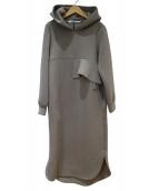 HERENCIA(ヘレンチア)の古着「バックフレアフーディーワンピース」|チャコールグレー