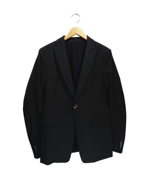 DIESEL Black Gold(ディーゼル ブラック ゴールド)DIESEL BLACK GOLD (ディーゼルブラックゴールド) 襟切替テーラードジャケット ブラック サイズ:Mの古着・服飾アイテム