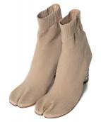 Maison Margiela22(メゾンマルジェラ22)の古着「足袋ニットブーツ」|ベージュ