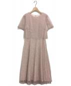 ROSSO(ロッソ)の古着「レースプリーツドレス」|ピンク