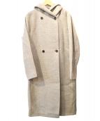 BEIGE(ベイジ)の古着「ウールアンゴラフーデッドコート」|グレー