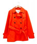 COACH(コーチ)の古着「ショートトレンチコート」|オレンジ