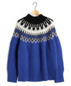 LE CIEL BLEU(ルシェルブルー)の古着「ノルディックニット」 ブルー