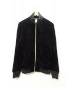 DIESEL(ディーゼル)の古着「ベロアブルゾン」|ブラック